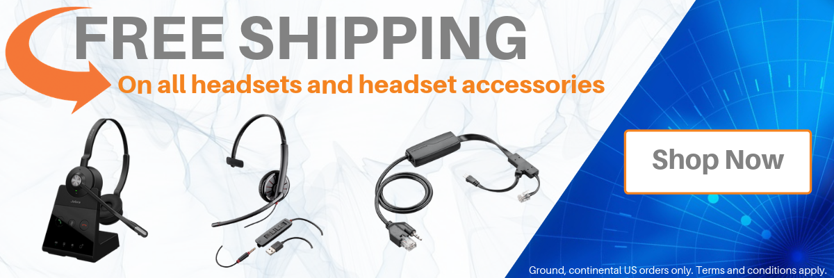 Get free shipping on all headsets