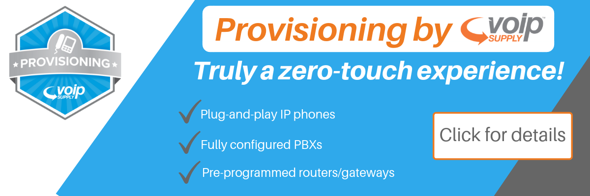 Provisioning by VoIP Supply
